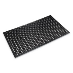 Safewalk-Light Drainage Safety Mat, Rubber, 36 x 60, Black