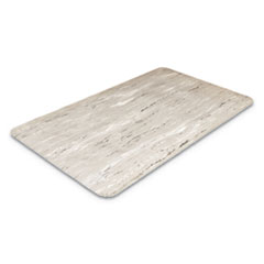 Cushion-Step Surface Mat, 36 x 72, Marbleized Rubber, Gray