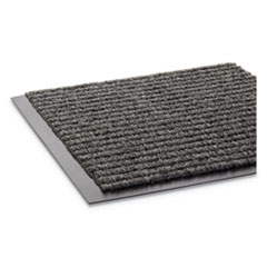 Needle Rib Wipe and Scrape Mat, Polypropylene, 48 x 72, Gray