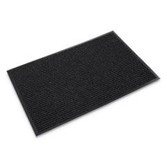 Needle-Rib Wiper/Scraper Mat, Polypropylene, 48 x 72, Charcoal