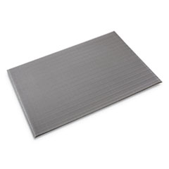 Ribbed Anti-Fatigue Mat, Vinyl, 36 x 60, Gray
