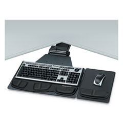 Professional Corner Executive Keyboard Tray, 19w x 14.75d, Black