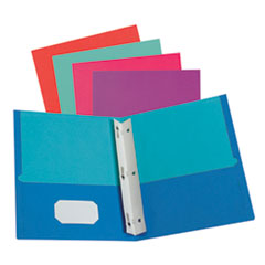 Twisted Twin Smooth Pocket Folder w/Fasteners, Letter, Assorted, 10/PK, 20 PK/CT
