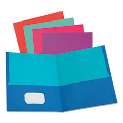 Twisted Twin Textured Pocket Folders, Letter, Assorted, 10/PK, 20 PK/CT