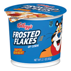 Breakfast Cereal, Frosted Flakes, Single-Serve 2.1oz Cup, 6/Box