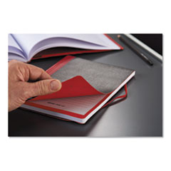 Flexible Casebound Notebooks, 1 Subject, Wide/Legal Rule, Black/Red Cover, 11.75 x 8.38, 72 Sheets