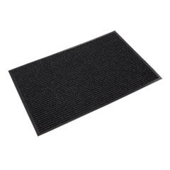 Needle Rib Wipe and Scrape Mat, Polypropylene, 36 x 60, Charcoal