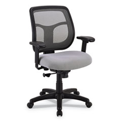 Apollo Mid-Back Mesh Chair, Silver Seat/Silver Back