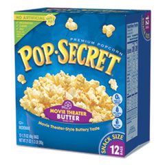 Microwave Popcorn, Movie Theatre Butter, 1.75 oz Bags, 12/Box