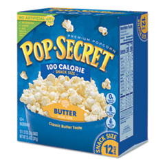Microwave Popcorn, Butter, 1.2 oz Bags, 10/Box