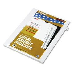 "80000 Series Legal Exhibit Index Dividers, Side Tab, ""D"", White, 25/Pack"