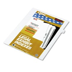 "80000 Series Legal Exhibit Index Dividers, Side Tab, ""G"", White, 25/Pack"