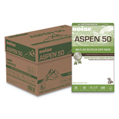 ASPEN 50% Multi-Use Recycled Paper, 20 lb, 11 x 17, White, 5 Reams/Carton
