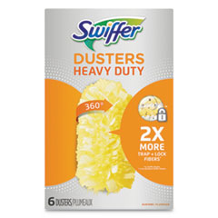 Heavy Duty Dusters Refill, Dust Lock Fiber, Yellow, 6/Box