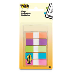 Page Flags in Portable Dispenser, Assorted Brights, 5 Dispensers, 20 Flags/Color