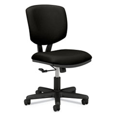 Volt Series Task Chair, Supports up to 250 lbs., Black Seat/Black Back, Black Base