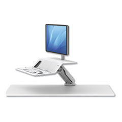 Lotus RT Sit-Stand Workstation, 48w x 23.75d x 49.2h, White