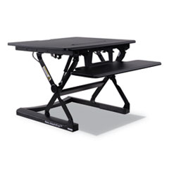 "AdaptivErgo Sit Stand Lifting Workstation, 26.75"" x 31"" x 5.88"" to 19.63"", Black"