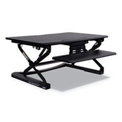 "AdaptivErgo Sit Stand Lifting Workstation, 35.13"" x 23.38"" x 5.88"" to 19.63"", Black"