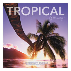 Landmark Tropical Getaway Wall Calendar, 12 x 11, 2019