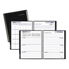 DayMinder Executive Weekly/Monthly Planner, 6 7/8 x 8 3/4, Black, 2019