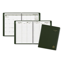 Recycled Weekly/Monthly Classic Appointment Book, 8 1/4 x 10 7/8, Green, 2019