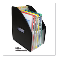 "Vertical Expanding File, 10"" Expansion, 13 Sections, 1/13-Cut Tab, Letter Size, Black"