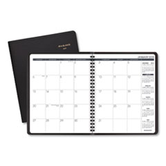 Monthly Planner, 6 7/8 x 8 3/4, Black, 2019