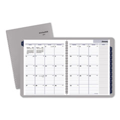 Traditional Monthly Planner, 8 1/2 x 11, Gray, 2019