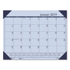 Recycled EcoTones Sunset Orchid Monthly Desk Pad Calendar, 22 x 17, 2019