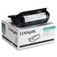 12A7460 Return Program Toner, 5000 Page-Yield, Black