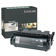 12A7462 Return Program High-Yield Toner, 21000 Page-Yield, Black