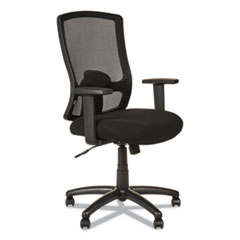 Alera Etros Series High-Back Swivel/Tilt Chair, Black