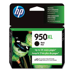 HP 950XL, (CN045AN) High Yield Black Original Ink Cartridge