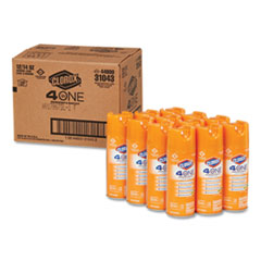 4-in-One Disinfectant & Sanitizer, Citrus, 14oz Aerosol, 12/Carton
