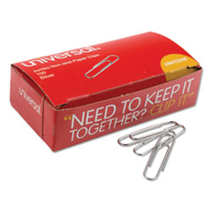 Paper Clips, Jumbo, Silver, 100 Clips/Box, 10 Boxes/Pack
