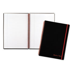 Twin Wire Poly Cover Notebook, Legal Rule, 11 3/4 x 8 1/4, 70 Sheets