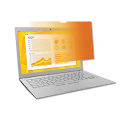 "Frameless Gold Notebook Privacy Filter for 15.6"" Widescreen Monitor, 16:9"