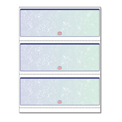 Premier Prismatic Check, Blue/Green, 3/Page, 13 Features, 8 1/2 x 11, 500/RM