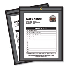 Shop Ticket Holders, Stitched, One Side Clear, 50 Sheets, 8 1/2 x 11, 25/Box