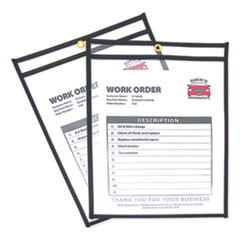 Shop Ticket Holders, Stitched, Both Sides Clear, 75 Sheets, 9 x 12, 25/Box