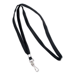 "Deluxe Lanyards, J-Hook Style, 36"" Long, Black, 24/Box"
