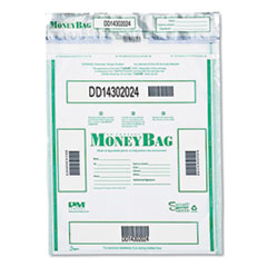 Triple Protection Tamper-Evident Deposit Bags, 15 x 20, Clear, 50/Pack