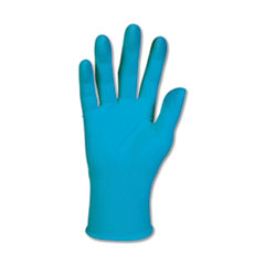 G10 Blue Nitrile Gloves, Powder-Free, Blue, 242 mm Length, Medium, 100/Box