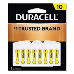 Hearing Aid Battery, #10, 8/Pack