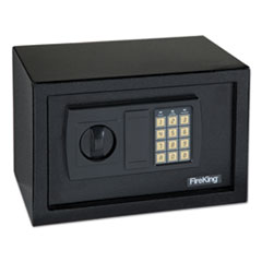 Small Personal Safe, 0.3 cu ft, 12.25w x 7.75d x 7.75h, Black