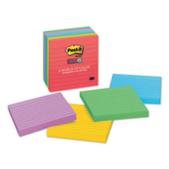 Pads in Marrakesh Colors, Lined, 4 x 4, 90-Sheet, 6/Pack