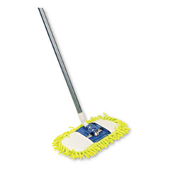 "Microfiber Dust Mop, 48"" Steel Handle, Blue"