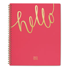 Aspire Academic Planner, 11 x 8 1/2, Coral/Gold, 2019-2020