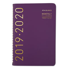 Contemporary Academic Planner, 8 x 4 7/8, Purple, 2019-2020